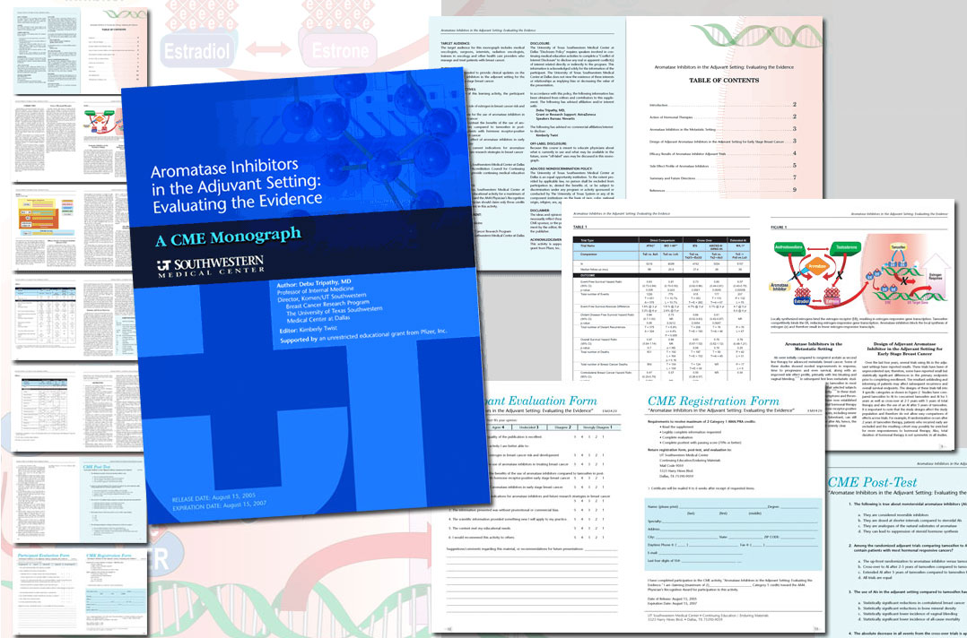 CME Monograph for Southwestern Medical Center – click here for example