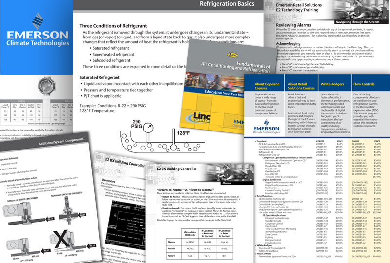 Emerson Climate Technologies Training Manuals & Sales Sheets